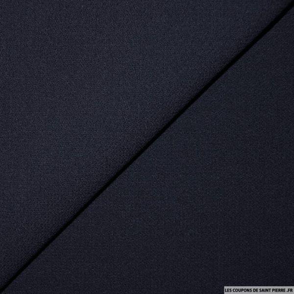 Tissu crêpe de laine bleu minuit