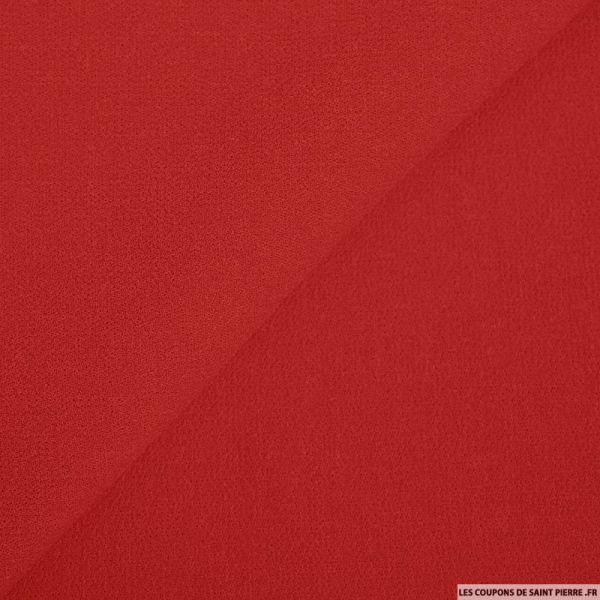 Crêpe de laine rouge