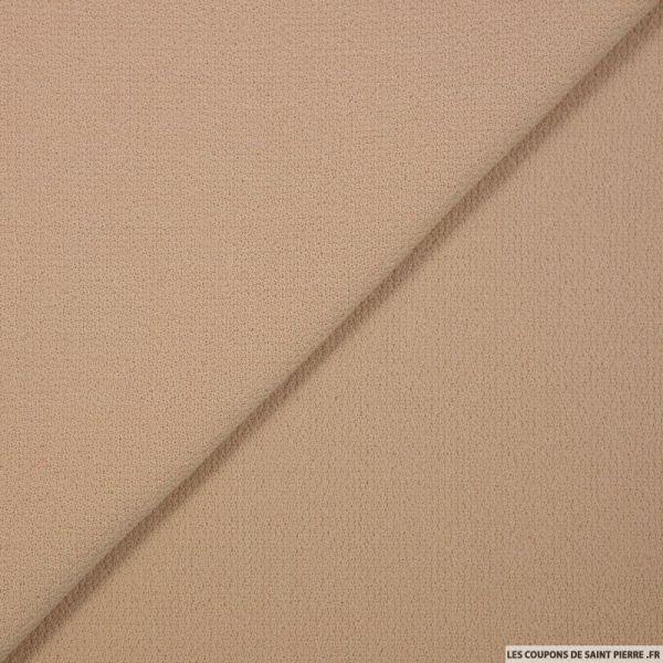 Crêpe de laine sable