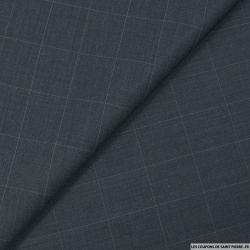 Tissu tailleur carreaux gris