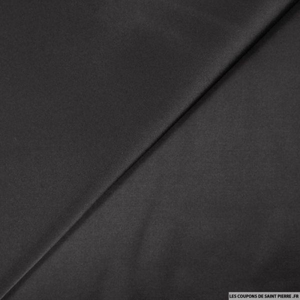 Gabardine de coton satiné noir