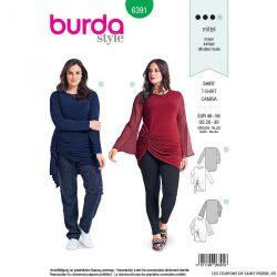 Patron burda n°6391: blouse