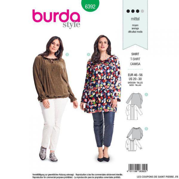 Patron burda n°6392: blouse