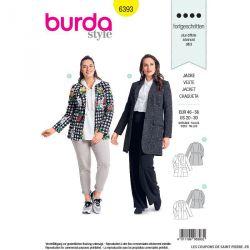Patron Burda n°6393: Veste