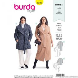 Patron Burda n°6394: Manteau
