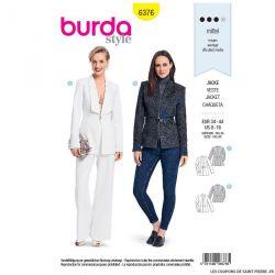 Patron burda n°6376: Blazer couture au col original