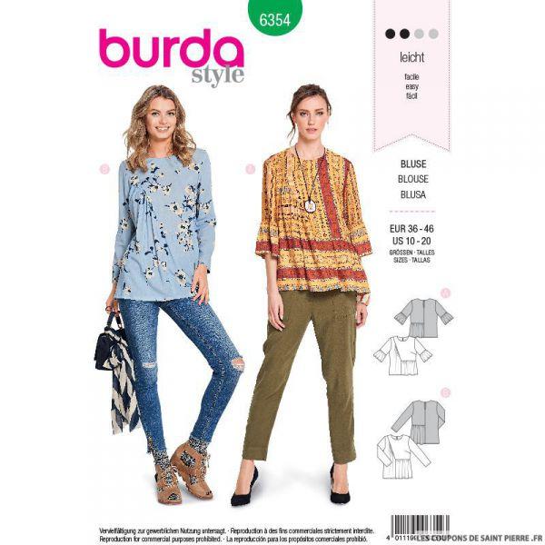 Patron burda n°6354: blouse