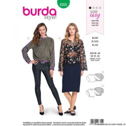 Patron burda n°6355: blouse