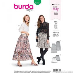 Patron Burda n°6357: Jupe