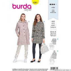 Patron Burda n°6361: Veste