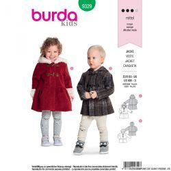 Patron Burda n°9329: Veste
