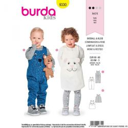 Patron burda n°9330: Combinaison et robe
