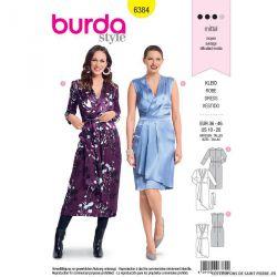 Patron burda n°6384 : Robe portefeuille et petits plis