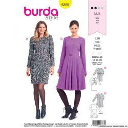 Patron Burda n°6385 : Une robe style Chanel et une avec une jupe cloche