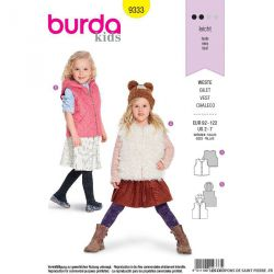 Patron Burda n°9333: Gilet