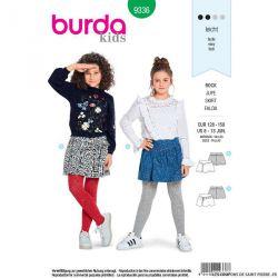 Patron Burda n°9336: Jupe