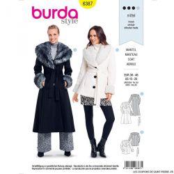 Patron Burda n°6387: Manteau