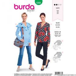Patron burda n°6368: Blouse avec une encolure en V