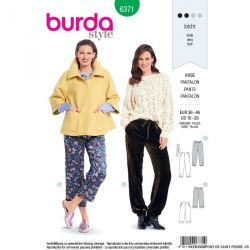Patron burda n°6371: Pantalon style pyjama