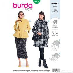 Patron Burda n°6372: Veste raglan