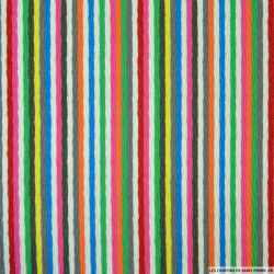 Coton fil teint rayures multicolore