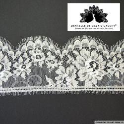 Ruban de Dentelle de calais® blanc cassé feston à fleurs au mètre