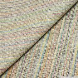 Bourrette de soie rayée arc-en-ciel