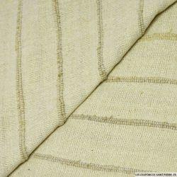 Bourrette de soie rustique rayée ficelle