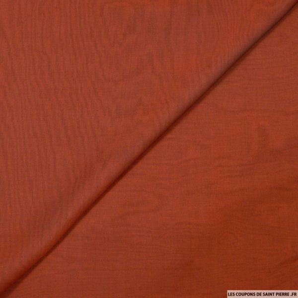 Mousseline de Soie changeant rouge et noir