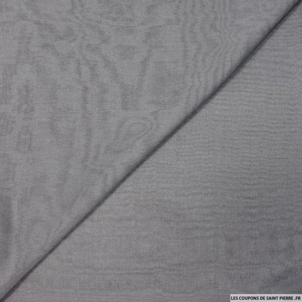 Mousseline de Soie changeant gris et noir