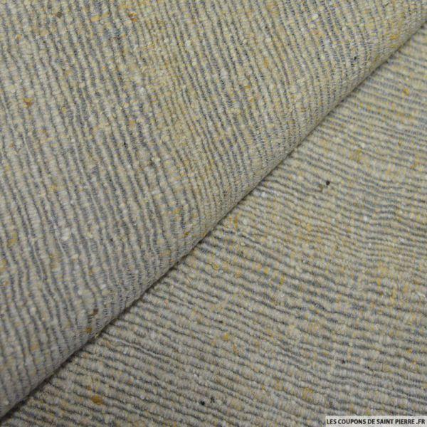Bourrette de soie rustique blé et gris