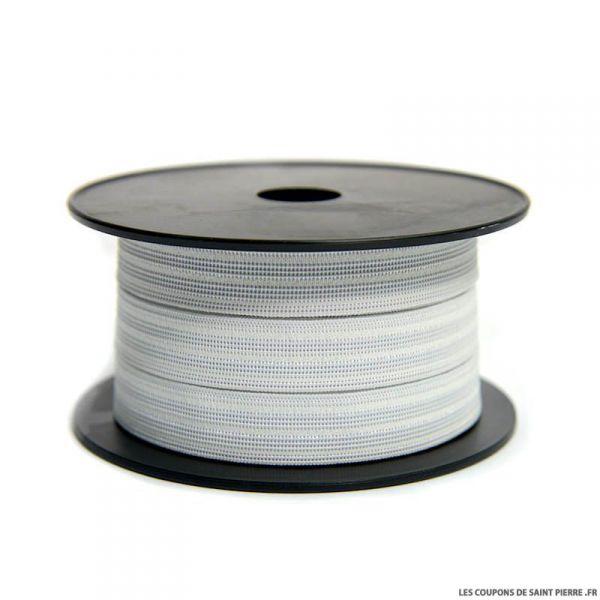 Elastique gauffré larg. 20 mm  - Le rouleau de 25 mètres