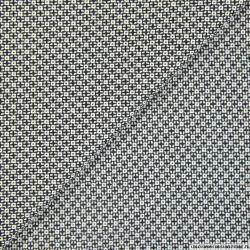 Gabardine coton petits carrés graphique noir et blanc