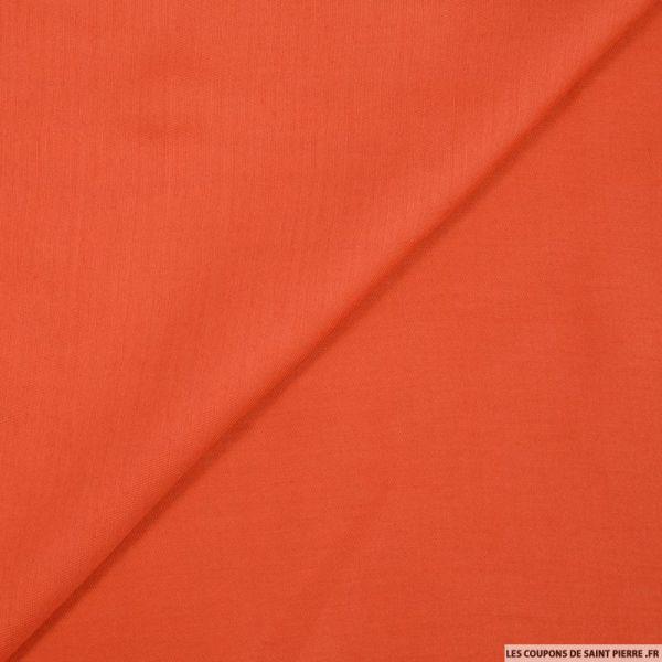 Voile de soie orange