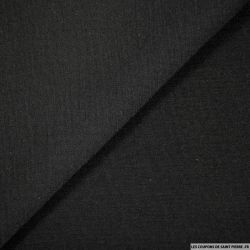 Molleton de laine noir