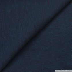 Molleton de laine marine chiné