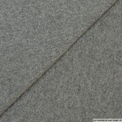 Molleton de laine gris