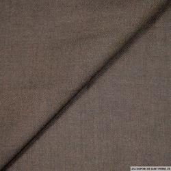 Etamine de laine mélangée marron