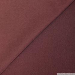 Crêpe de laine mélangée bordeaux