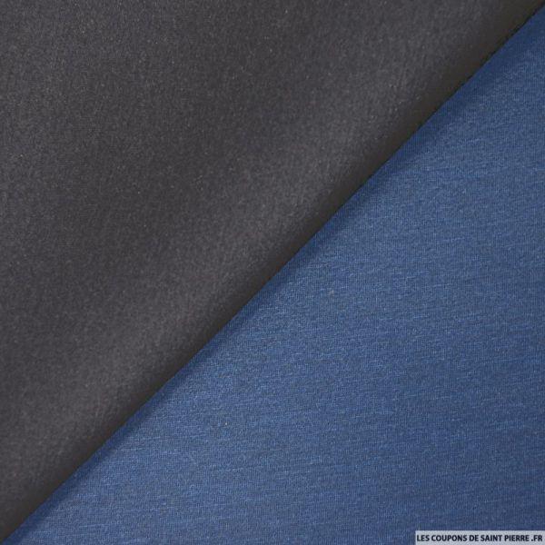 Néoprène double face marine et bleu