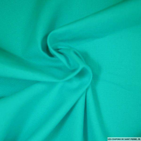 Tissus Piqué de coton milleraies bleu canard