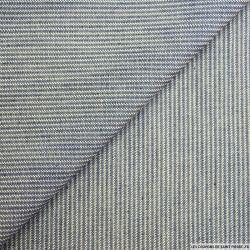 Jean's coton rayures bleu et écru