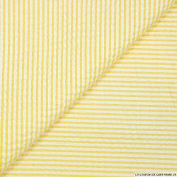 Seersucker rayures jaune