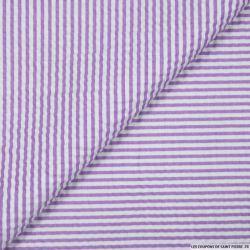 Seersucker rayures violet