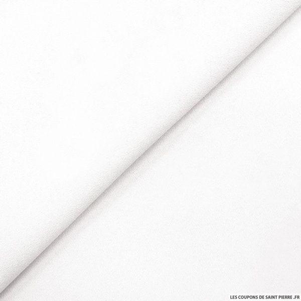 Crêpe polyviscose blanc