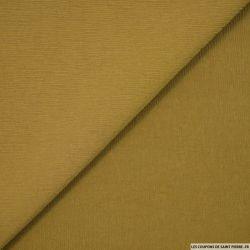 Crêpe polyester plissé vert olive