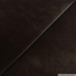 Velours ras coton marron foncé