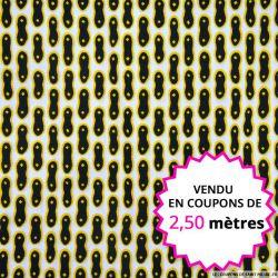 Wax africain cacahuète, vendu en coupon de 2,50 mètres