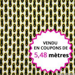 Wax africain cacahuète, vendu en coupon de 5,48 mètres