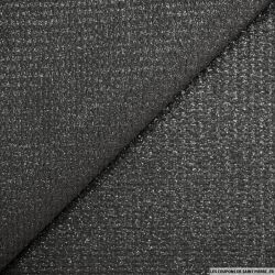 Polyester fantaisie noir fil irisé